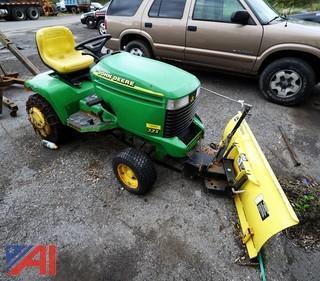 John Deere 325 Utility Tractor with Plow