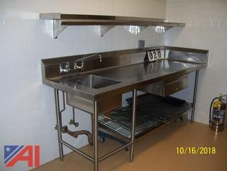 Stainless Steel Sink with Counter Top