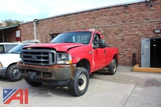 2002 Ford F350 SD XL Pickup with Plow