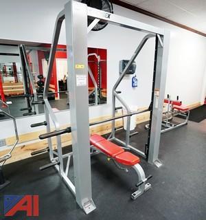 Cybex Smith Machine Press/Fixed Bar #5341-305-B With Bench