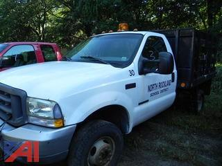 2002 Ford F350 SD XL Pickup with Stake Rack Body
