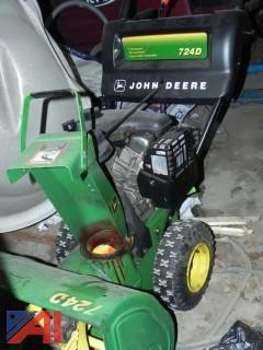 "24"" John Deere, 724D Snowblower"