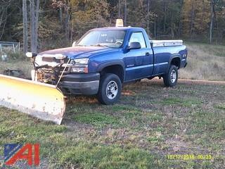 2004 Chevrolet Silverado 2500HD Pickup Truck with Plow