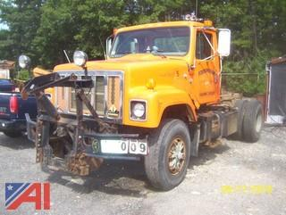 1997 International 2554 Cab and Chassis with Plow