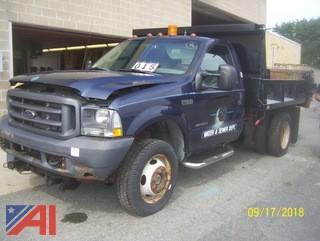 2003 Ford F450 SD Dump Truck