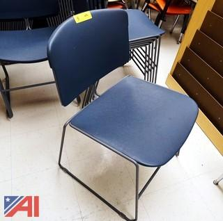 Steel Case Max-Stacker Chairs, (100)