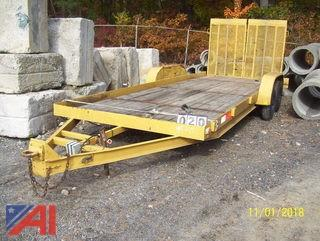 20' Wood Deck Trailer with Ramp