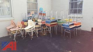 Assorted Student Desks & Chairs
