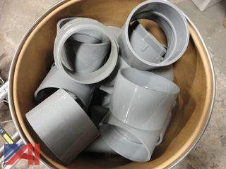 "PVC  4"" Couplings in 3 Barrels, (Approx. 196)"