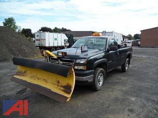 2006 Chevy Silverado 2500HD Pickup with Plow