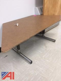 School Adjustable Trapezoid Tables