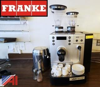 FRANKE Saphira Coffee Espresso Machine and Two Bottle Racks