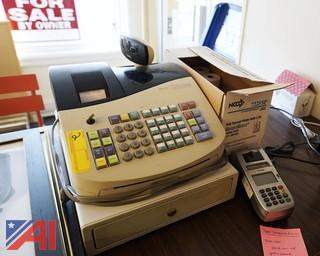 Royal Electronic Cash Register with Charge Card Machine & Labels