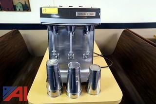 Hamilton Beach 3 Head Milk Shake Mixer with Cups