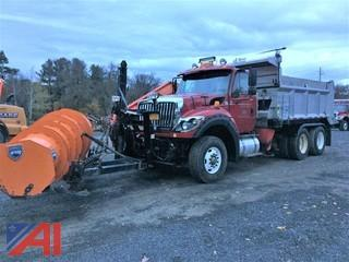 2012 International 7600 Workstar Dump Truck with Plow