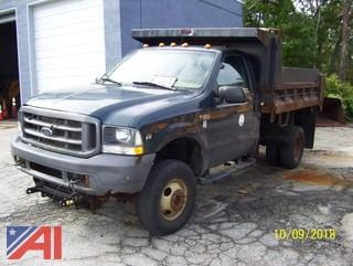 2004 Ford F350 4x4 Dump Truck with Plow