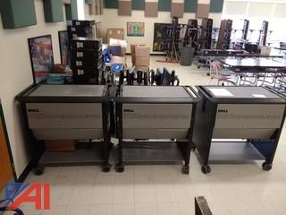 Ergotron Mobile Computing Station 24 Unit Carts, (3)