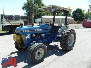 1989 Ford 3910 Tractor with 5' Sickle Bar Attachment and Mower Deck
