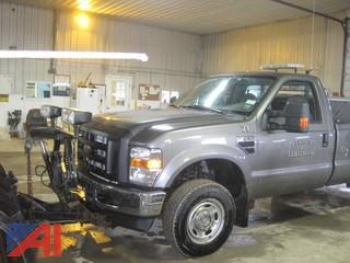 2010 Ford F250 SD XL Pickup with Plow and Sander