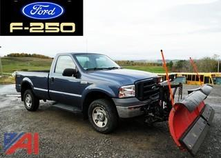 2006 Ford F250 SD XL 4x4 Pickup Truck with Plow