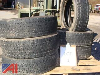 Used Continental HDR 225/70R 19.5 Tires Load Range G
