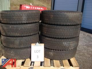 Used Continental HDR 225/70R 19.5 Tires Load Range G Tires