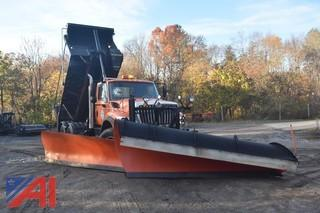 2012 International 7400 SBA Dump Truck with Front Plow and Wing