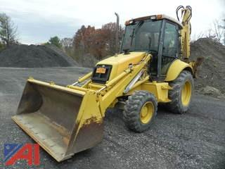 1998 New Holland Ford 555E Front and Back End Loader