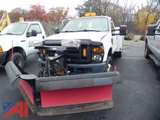 2010 Ford 350 SD XL Pickup with Utility Box, Crane and Plow
