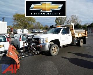 2009 Chevy Silverado 3500 HD 4WD Dump Truck with Plow