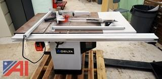"Delta #36-714 Industrial Hybrid Left Tilt 10"" Table Saw"