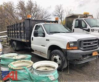 2001 Ford F450 SD XL Stake Rack Truck