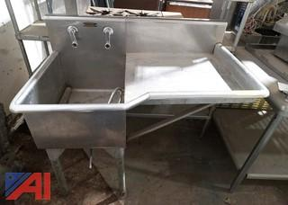 Single Bay S/S Sink with Drain Board