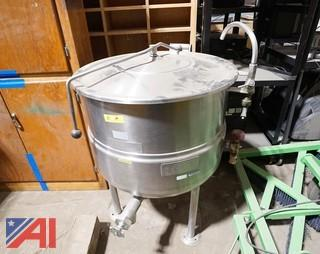 Cleveland Stationary KDL-40 Steam Jacketed Direct Steam Kettle