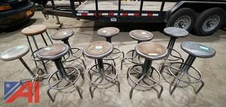 Vintage Industrial Shop Stools