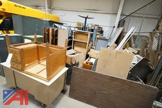 Assorted Desks, Cabinets and More