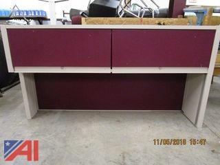 Computer Desk and Metal Cupboard