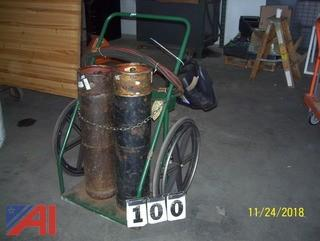 Torch Cart with Tanks and parts