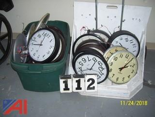 Lot of Wall Clocks and White Board