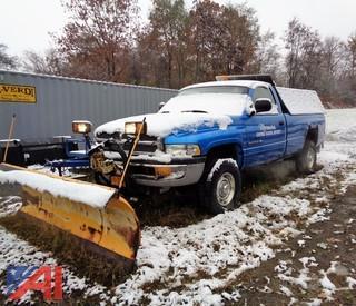 1999 Dodge Ram 2500 Pickup Truck with Plow & Sander