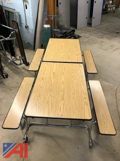 Rolling Folding Cafeteria Tables