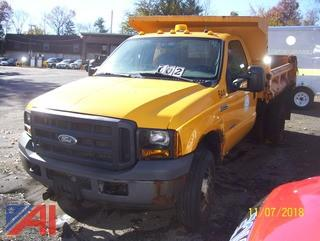 2007 Ford F350 4x4 Dump Truck with Plow