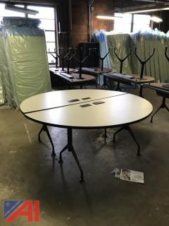 "2 Piece 72"" Round Folding Tables"