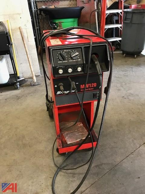 Auctions International Auction Voorheesville Csd Ny 16181 Item Snap On Mw120 Welder