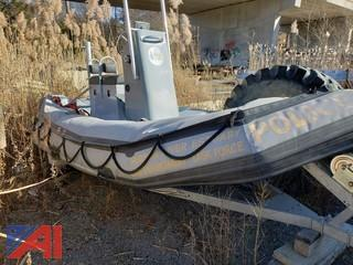 Zodiac Milpro SRMN-550  Inflatable Boat and Trailer