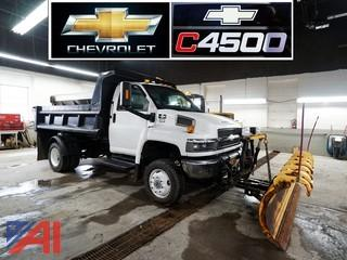 2007 Chevy C4500 4WD Dump Truck with Plow & Spreader