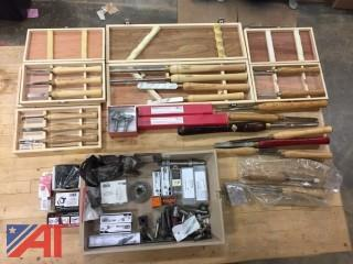Various Lathe Chisel Sets and Parts