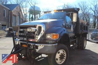 2004 Ford F650 SD Dump  with Plow & Spreader