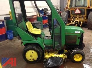 John Deere 425 Tractor with Mower & Blower