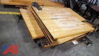 Assorted Maple Wood Working Benches